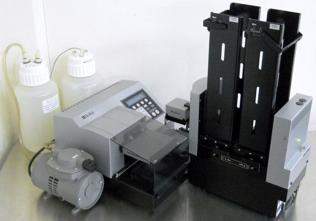 ELx405R Microplate Washer with BioStack Microplate Stacker
